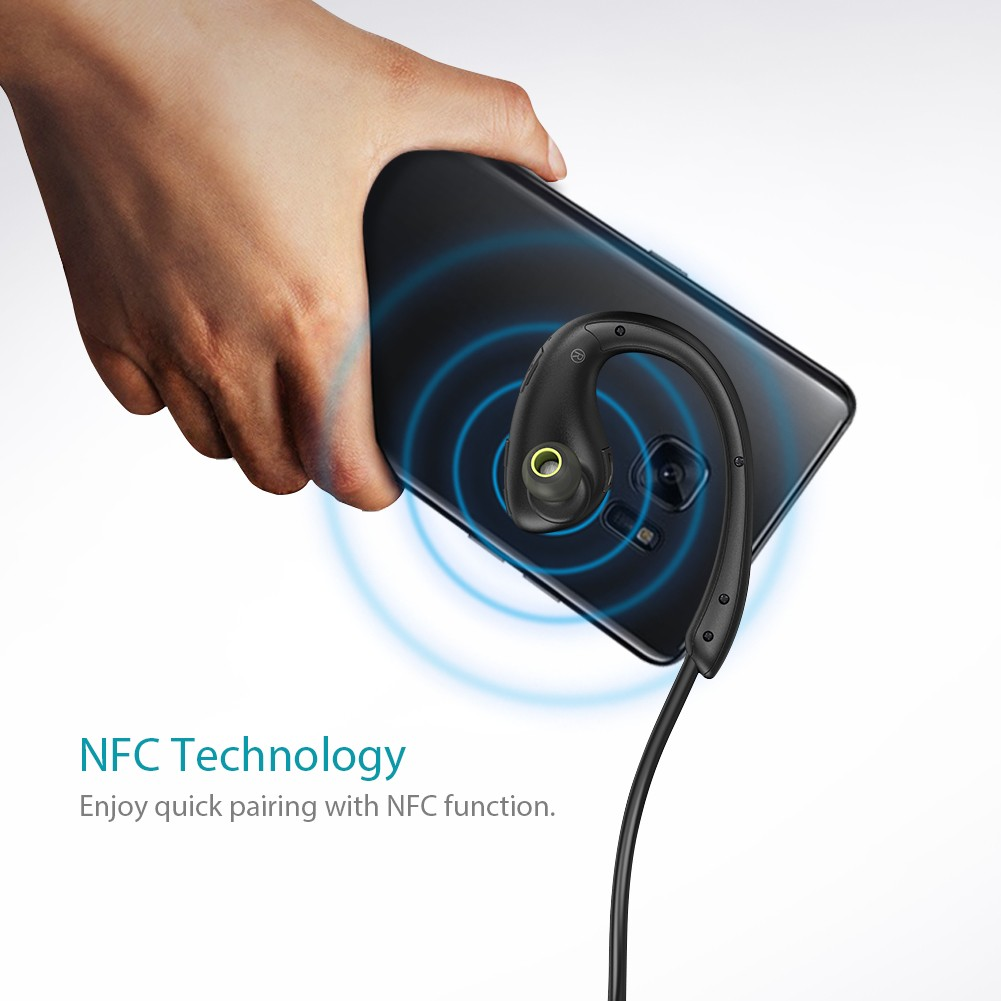 dodocool Wireless V4.1 Sports In-Ear Headphone with HD Mic CVC 6.0 IPX4 headset- Black