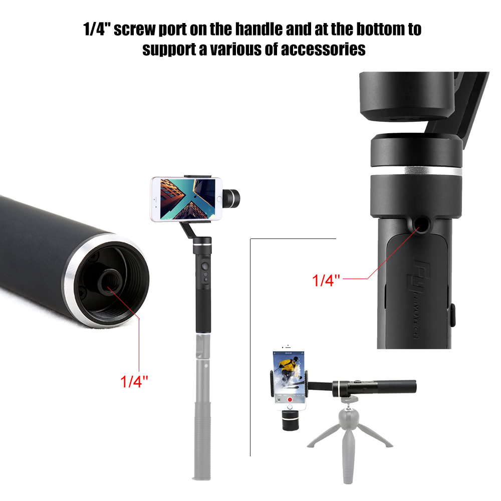 Feiyu Spg 3 Axis Video Stabilized Handheld Gimbal Smartphone Steady For Smartphones Extra Battrey Stabilizer