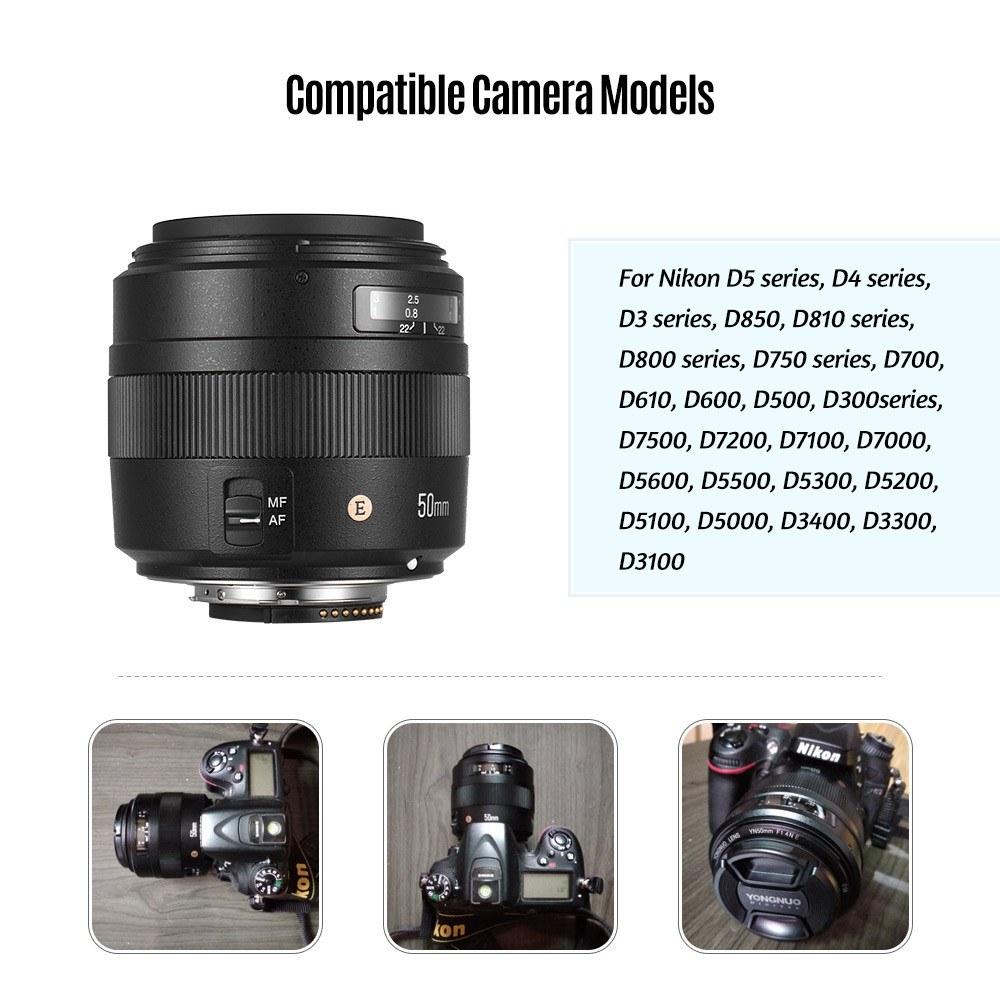YONGNUO YN50mm F1 4N E Standard Prime Lens F1 4 Large Aperture Live View  Focusing Auto/Manual Focus for Nikon D5/D4/D3/D810/D800/D750/D300 Series  D850