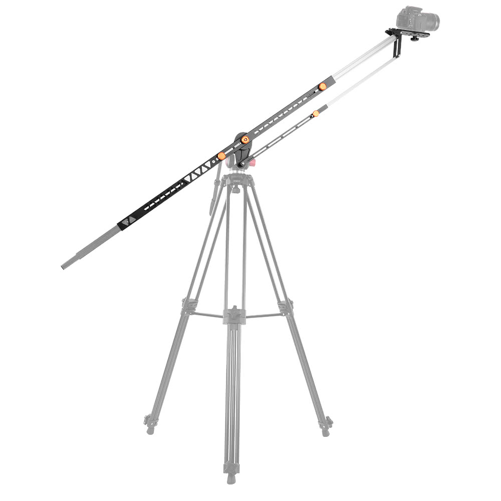andoer 2m  6 5ft foldable aluminum alloy camera camcorder crane photography jib arm for canon