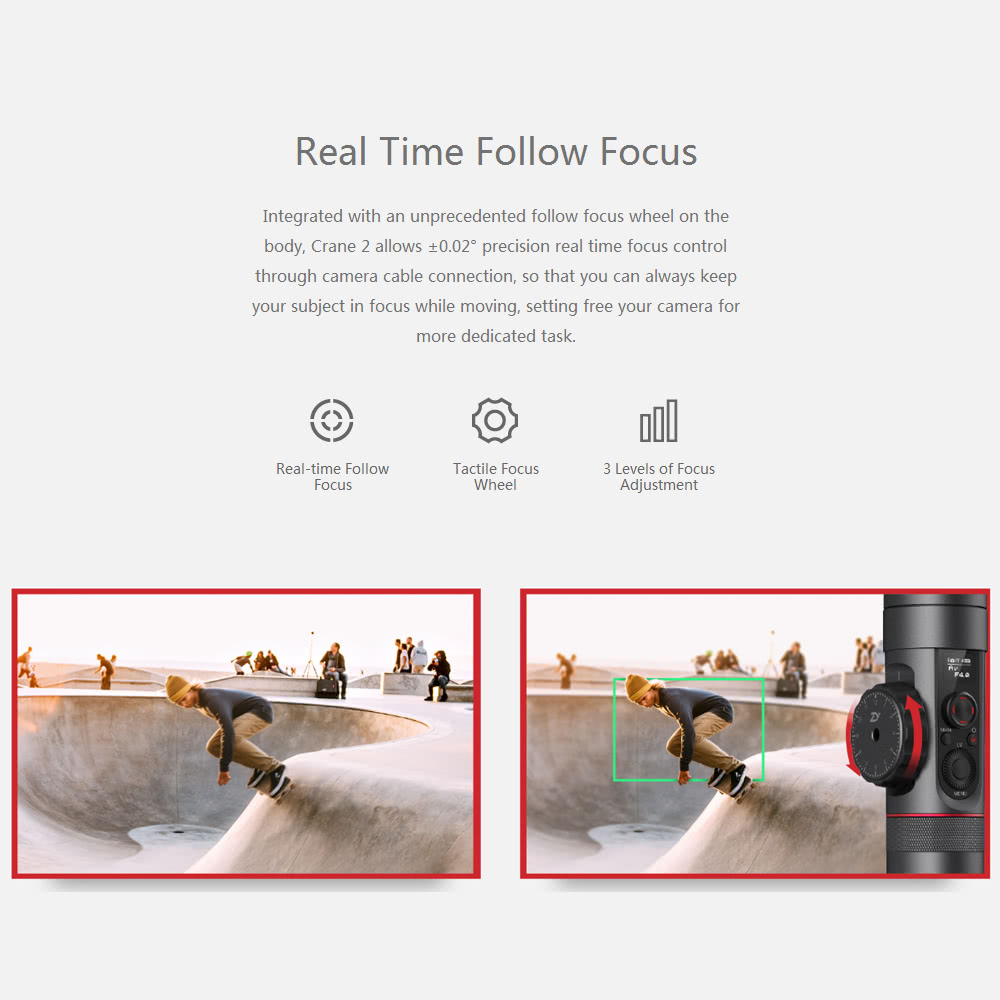 Zhiyun Crane 2 3 Axis Handheld Gimbal Camera Gyro Stablizer Sales Stabilizer With Follow Fokus For Mirorrles Dslr Mouse Over To Zoom In