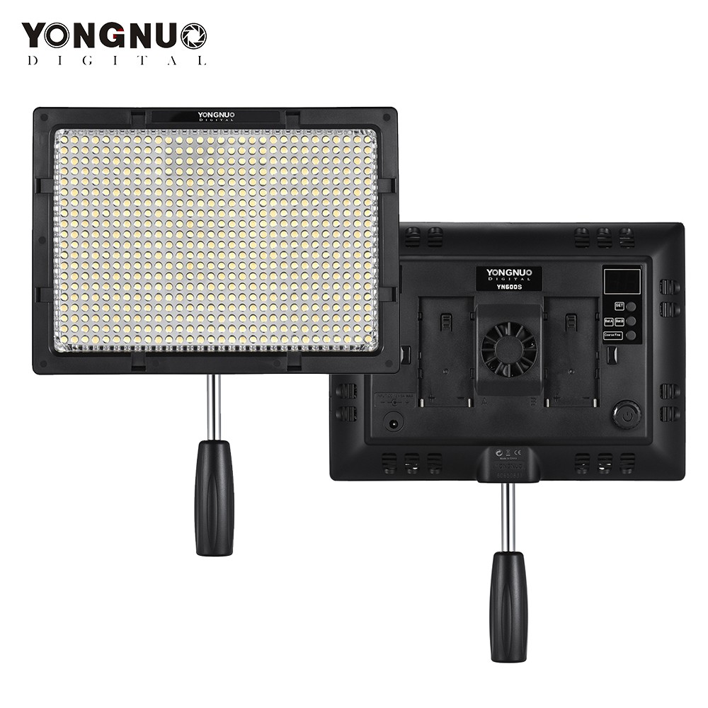 yongnuo yn600s led 5500k farbtemperatur video licht lampe schwarz. Black Bedroom Furniture Sets. Home Design Ideas