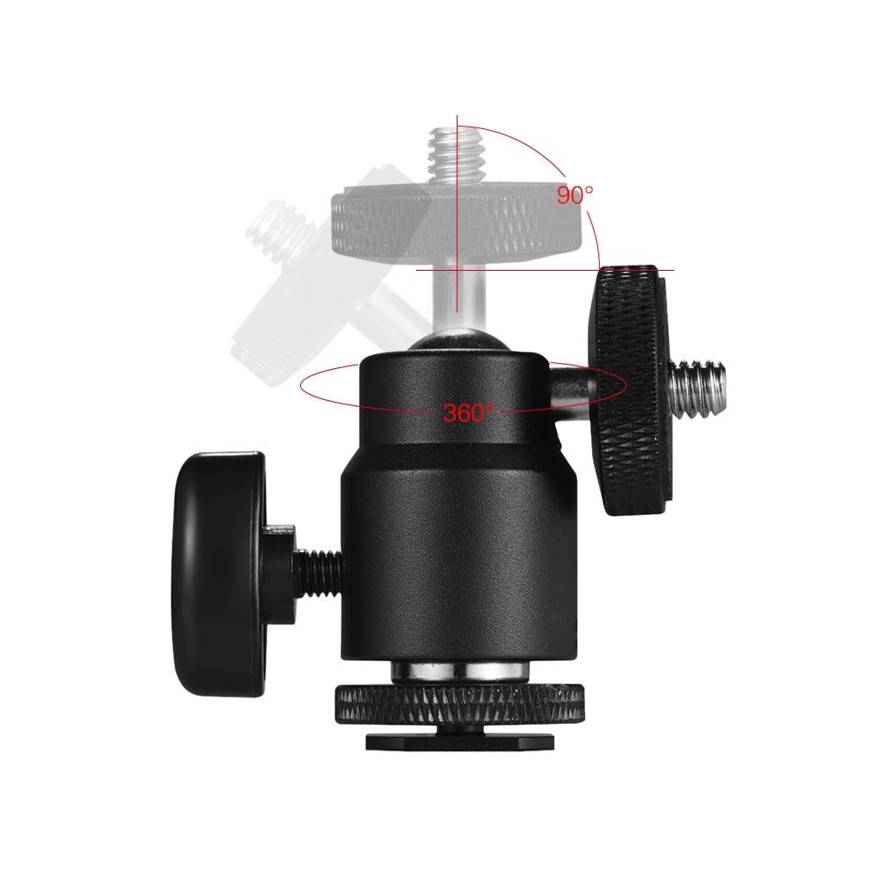 Adjustable Phone Holder Clip + Mini Ball Head with 1/4 Inch Screw Mounts  for Canon Nikon Sony DSLR ILDC Mini DV Monitor Video Light Tripod for  iPhone
