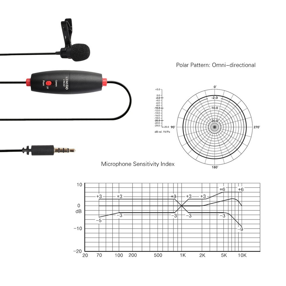 lensgo lym-dm1 mini omni-directional lavalier condenser microphone sales online 01
