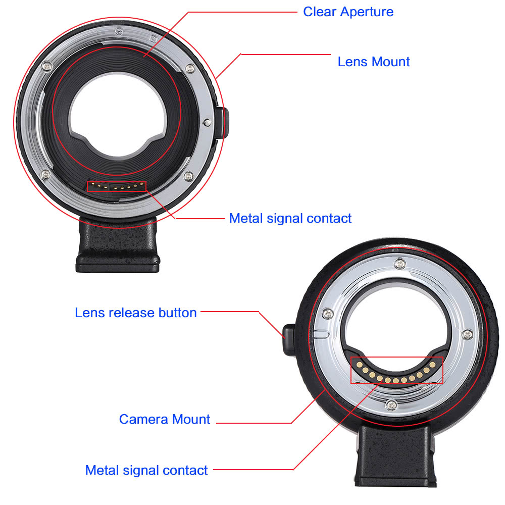 Andoer EF-MFT Auto Focus Electronic Lens Mount Adapter Ring for Canon EOS  EF/EF-S Lens to M4/3 Camera Such As for Olympus Panasonic M4/3 Camera