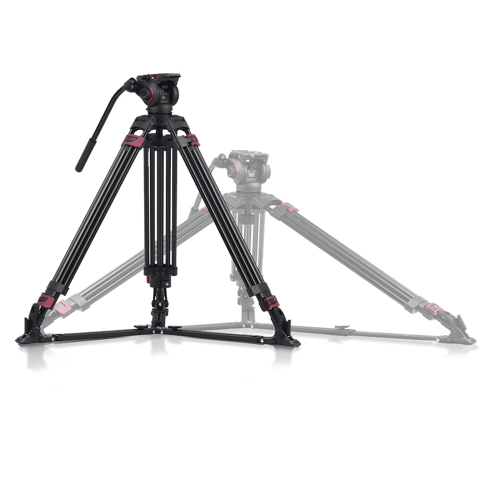 miliboo mtt609a professional photography 3 sections tripod stand aluminum alloy with 360
