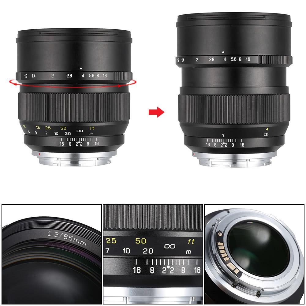 Zhong Yi Optics 85mm F1.2 135 Full Frame Fixed Focal Long Lens for ...