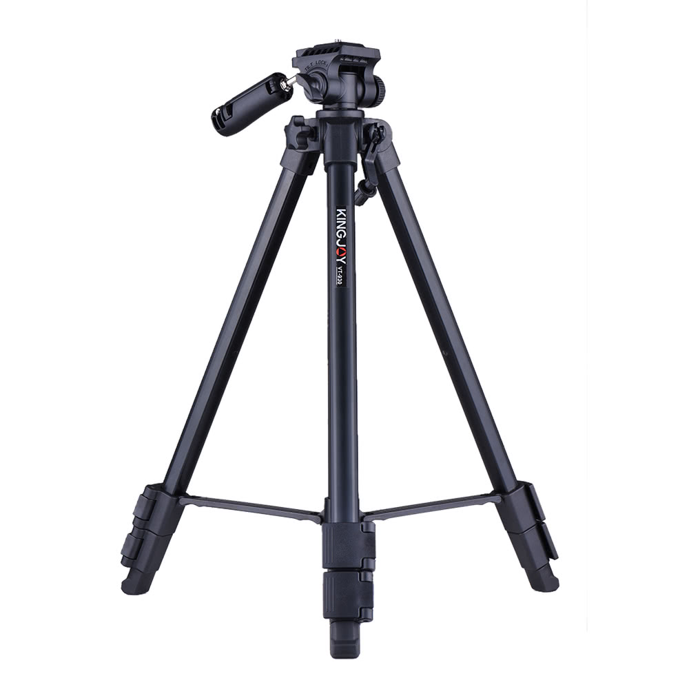 Kingjoy Vt 930 145cm 48ft Lightweight Portable Camera Video Tripod Profesional Kits 2500 With Panoramic Head Smartphone Holder Aluminum Alloy Max Load 3kg 66lbs For Canon