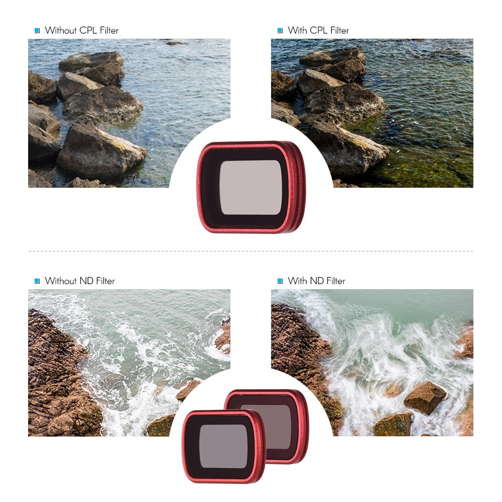 PGYTECH 3pcs Professional Lens Filters Accessory Kit