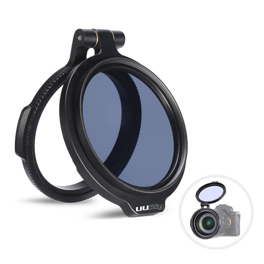 UURig RFS 49 mm Syst/ème de Filtre Rapide pour Objectif dappareil Photo Support de Montage Accessoires vid/éo pour Filmer Adaptateur de Filtre ND