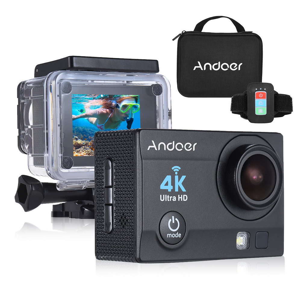 Migliore Macchina fotografica d'azione di Andoer Q3H-R 4K ...