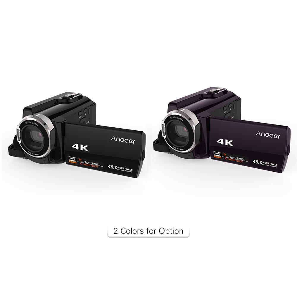 Andoer HDV-534K 4K 48MP WiFi Digital Video Camera Sales Online black ...