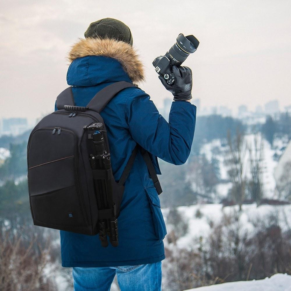 Puluz Outdoor Portable Waterproof Scratch-proof Dual Shoulders Backpack Camera Accessories Bag Digital Dslr Photo Video Bag Camera/video Bags Digital Gear Bags