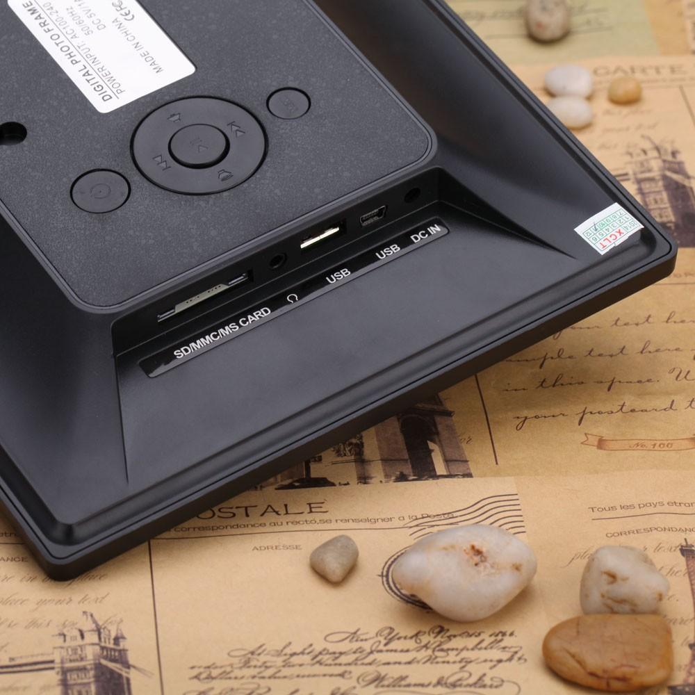 8-Zoll Ultradünne HD TFT-LCD Digitaler Bilderrahmen Wecker MP3 MP4 ...