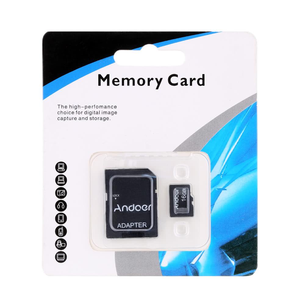 andoer 16gb class 10 carte m moire carte tf adaptateur lecteur de carte cl usb pour. Black Bedroom Furniture Sets. Home Design Ideas