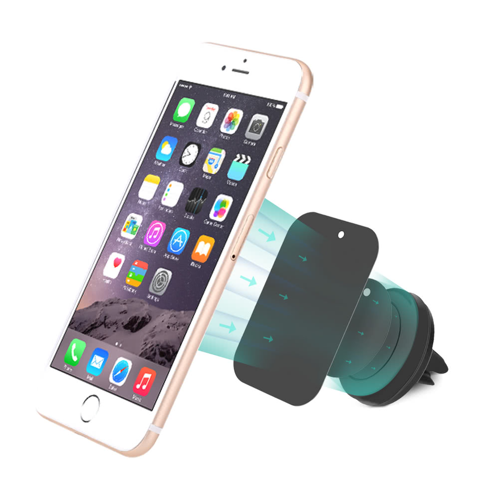 Dodocool Portable 360 Rotation Universal Magnetic Vehicle Mount Air Car Ventilation Holder T360 Vent Bracket Stand For Iphone 6 Plus 5 5c 5s 4 4s Samsung Smartphone Gps