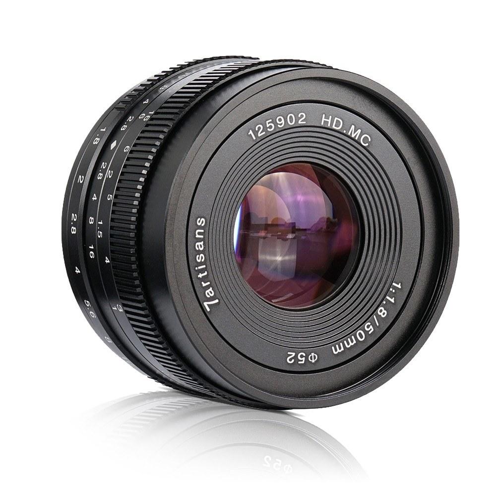 7artisans 50mm F1.8 Manual Focus Camera Lens Large Aperture for Sony A7/A7II/A7R/A7RII/A7S/A7SII/A6500/A6300 E-Mount Mirrorless Cameras