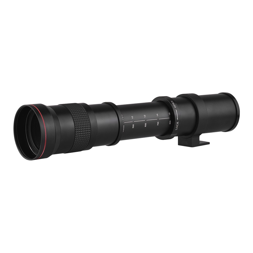 Super Telephoto Manual Zoom Lens 420-800mm F/8 3-16 T-Mount with EF/EF-S  Mount Adapter Ring for Canon EOS