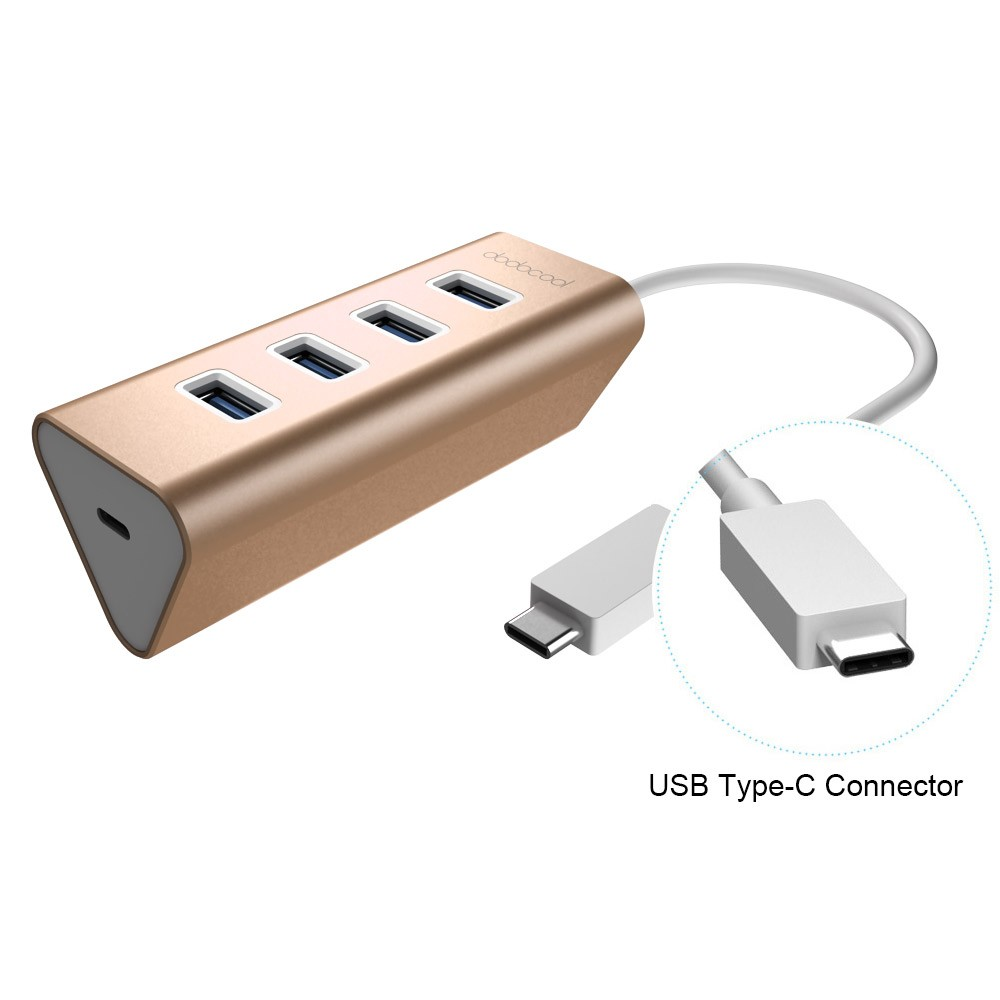 dodocool Aluminum USB Type-C Male Connector to 4-Port USB ...
