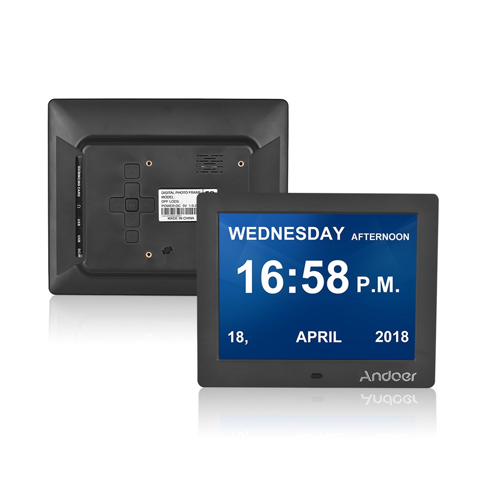 Andoer 8 Inch Digital Alarm & Photo Frame