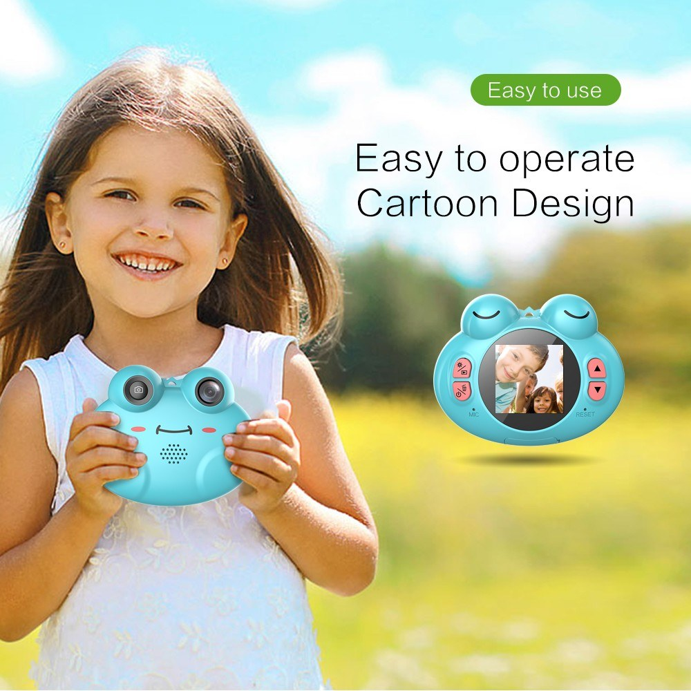 5025-OFF-Cute-Cartoon-Frog-Shape-Mini-Kids-Digital-Video-Cameralimited-offer-242160