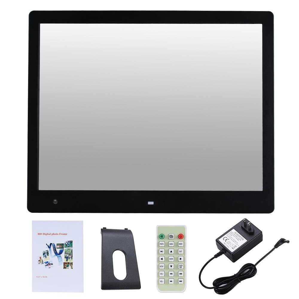 16 wide screen led digital photo frame sales online black us tomtop