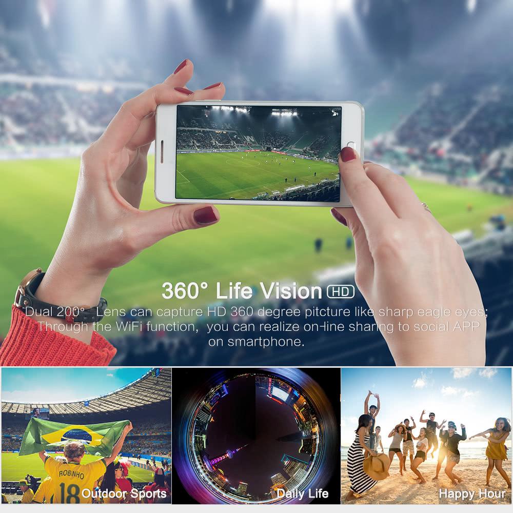 360° Handheld WiFi VR Panoramic Camera