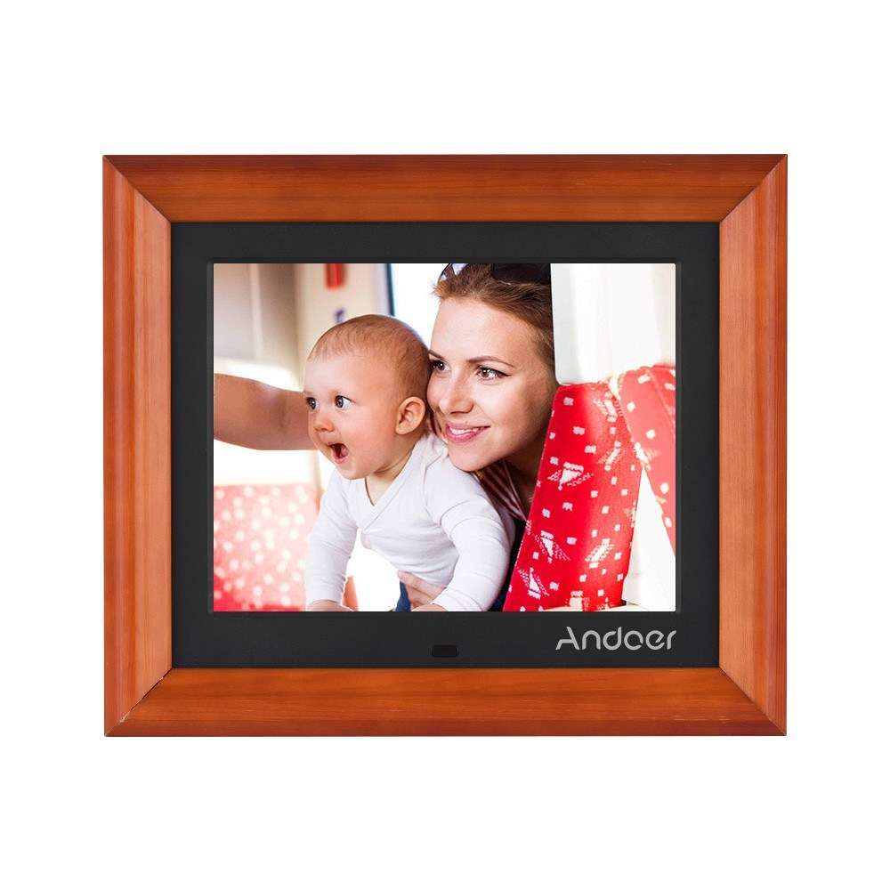 Andoer 8 Inch Large Screen LED Digital Photo Frame Desktop Album