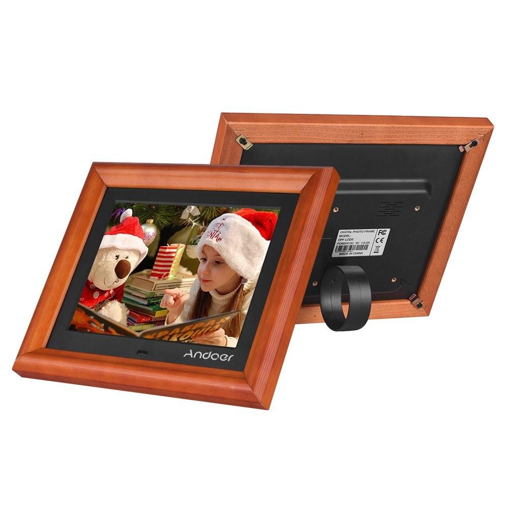 Andoer 8 Inch Large Screen LED Digital Photo Frame Desktop Album