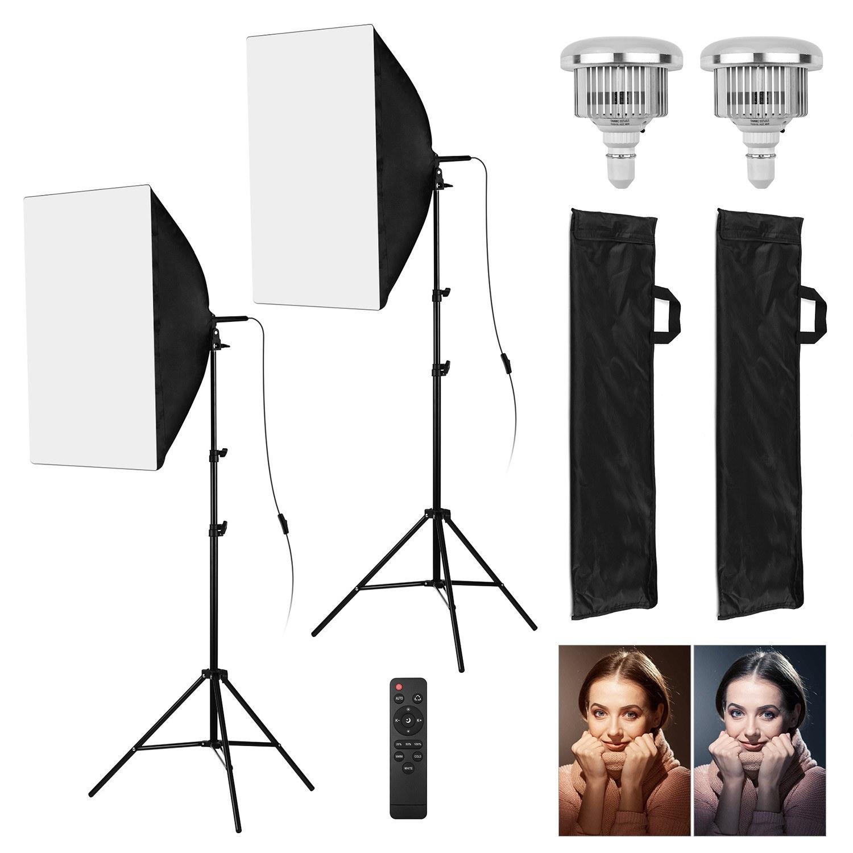 Tomtop - [EU Warehouse] 87% OFF Andoer Professional Studio Photography Light Kit, $39.99+ (Inclusive of VAT)