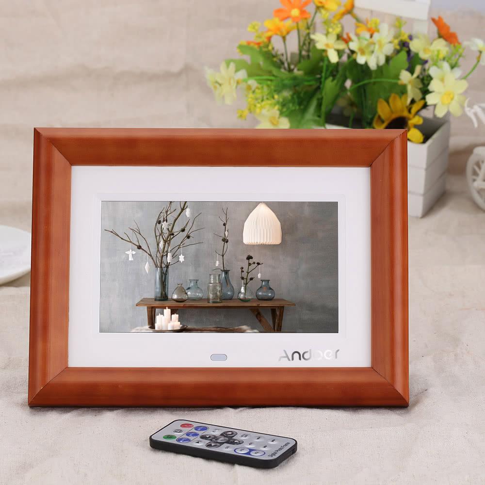 beste andoer 7 desktop holz lcd digitaler bilderrahmen mit eu verkauf online einkaufen. Black Bedroom Furniture Sets. Home Design Ideas