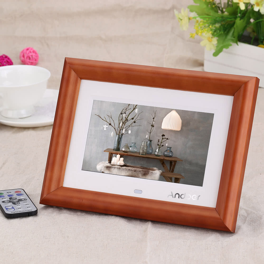beste andoer 7 desktop holz lcd digitaler bilderrahmen mit us verkauf online einkaufen. Black Bedroom Furniture Sets. Home Design Ideas