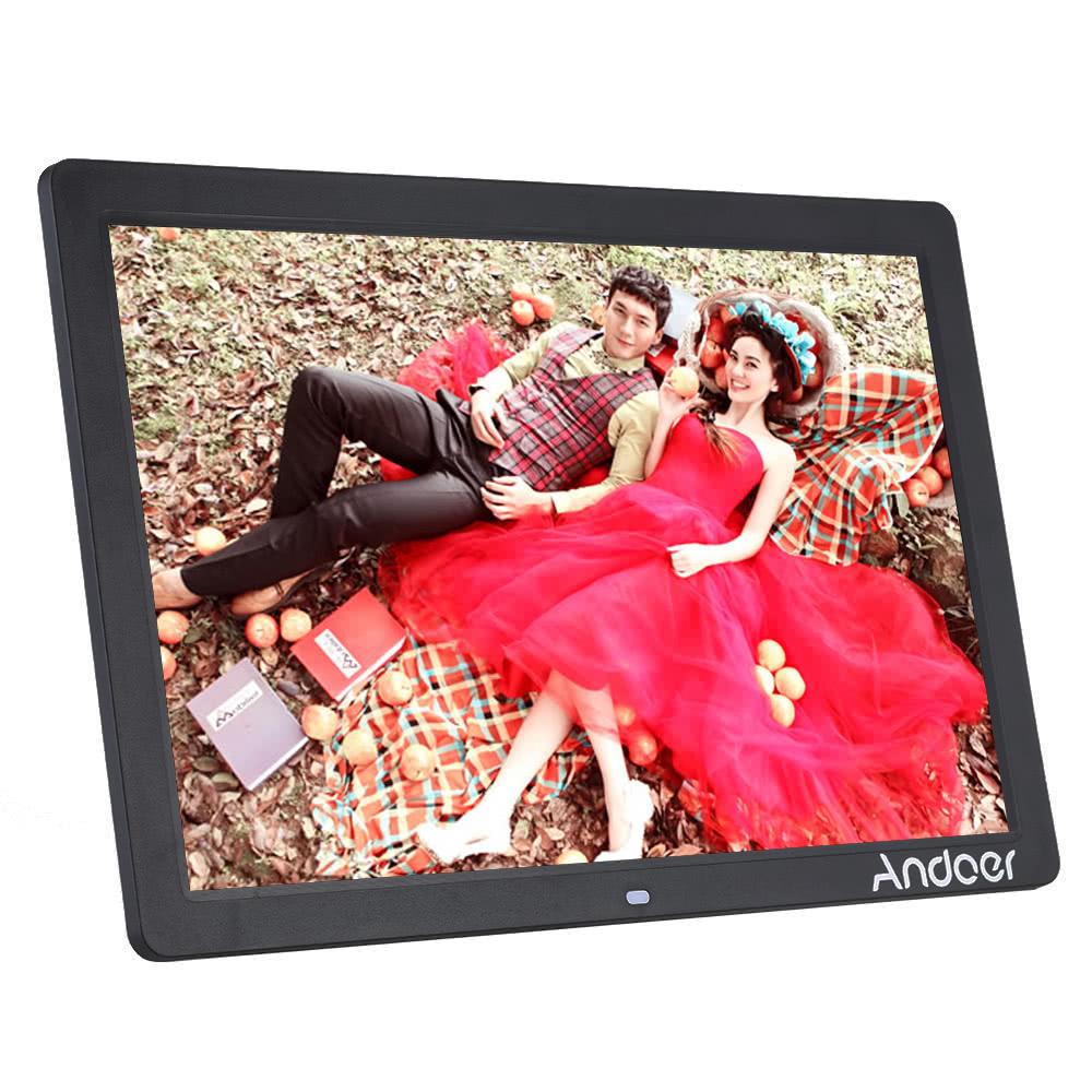 andoer 17 led digital foto bilderrahmen schwarz au alles neu. Black Bedroom Furniture Sets. Home Design Ideas