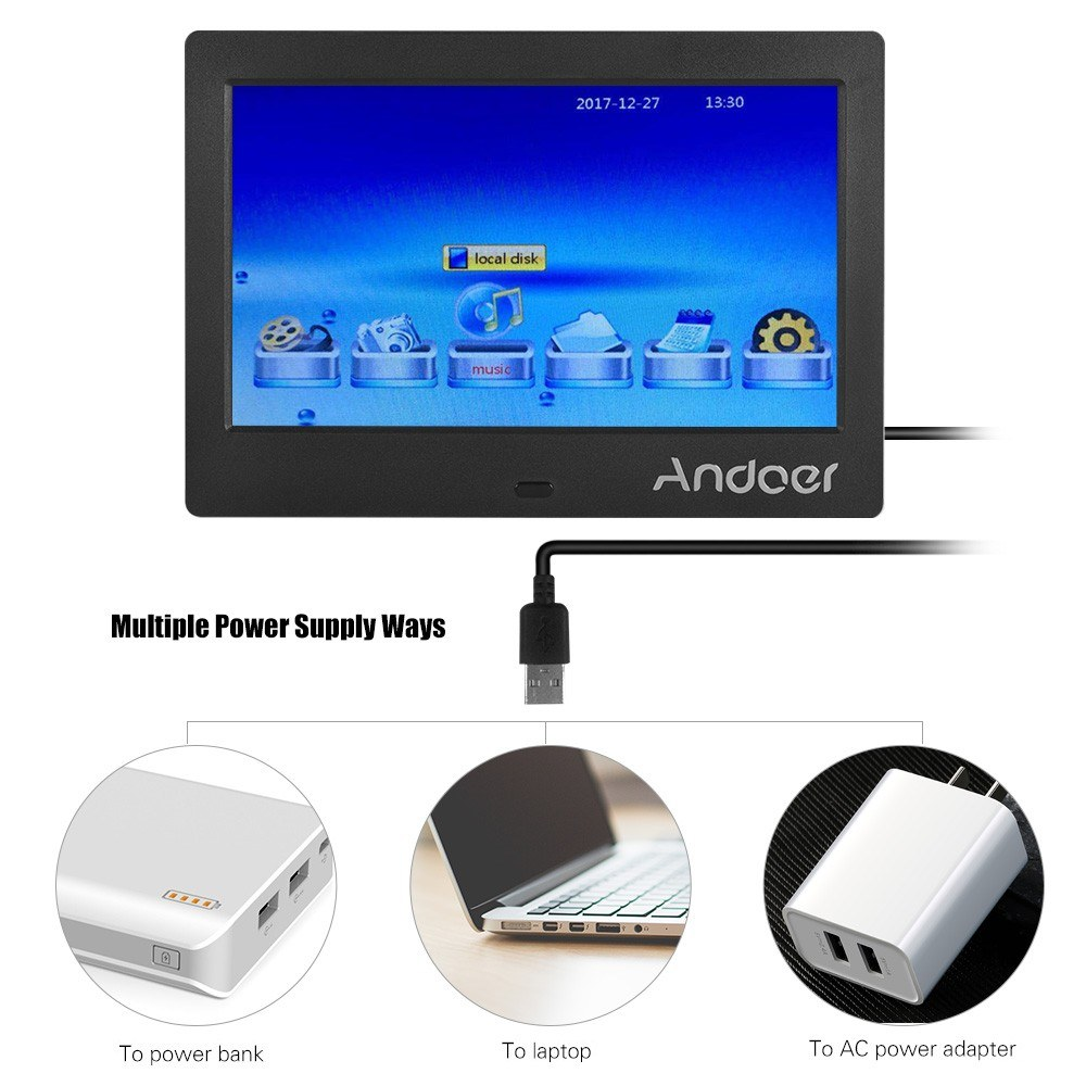 Andoer 7 Inch IPS HD Screen 1024*600 Digital Photo Frame Sales ...