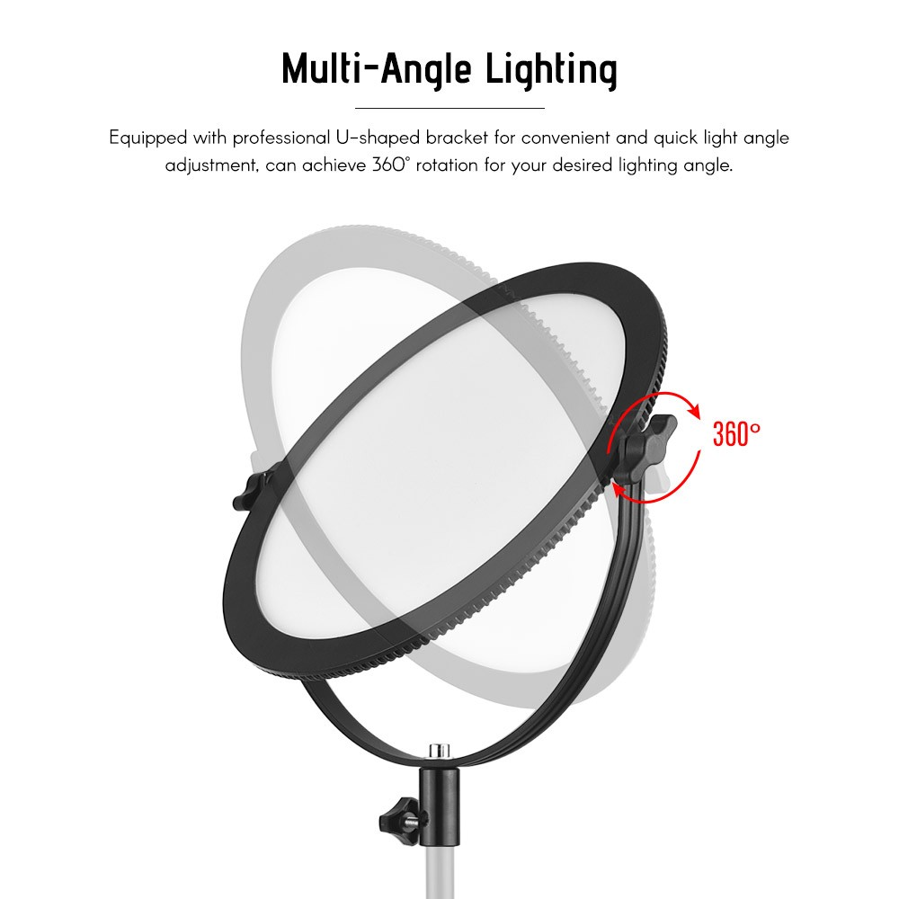 Andoer So 30t Ultrathin Bi Color Round Led Video Light 3200k 5600k Wiring Diagram Photography Fill Stepless Diammable Lcd Display Screen Cri 97 Power 30w For