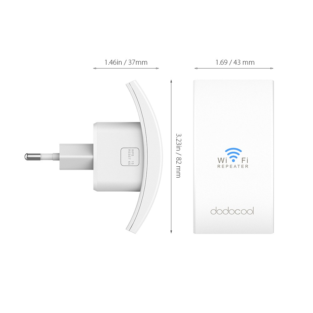 dodocool N300 WiFi Extender Wi-Fi Range Extender Signal Booster Repeater/AP  Mode with Ethernet Port 2 4GHz 300Mbps