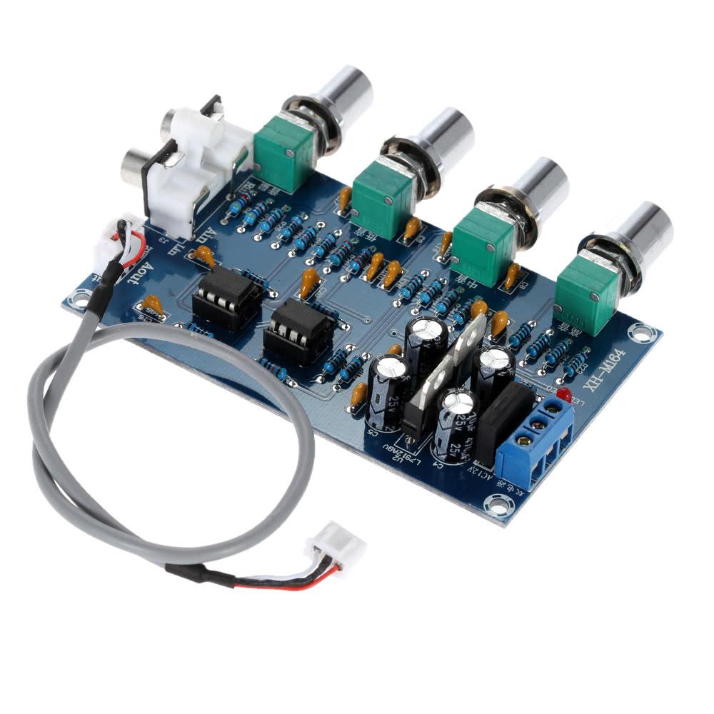 NE5532 Stereo Pre-amp Preamplifier Tone Board Audio 4 Channels Amplifier  Board