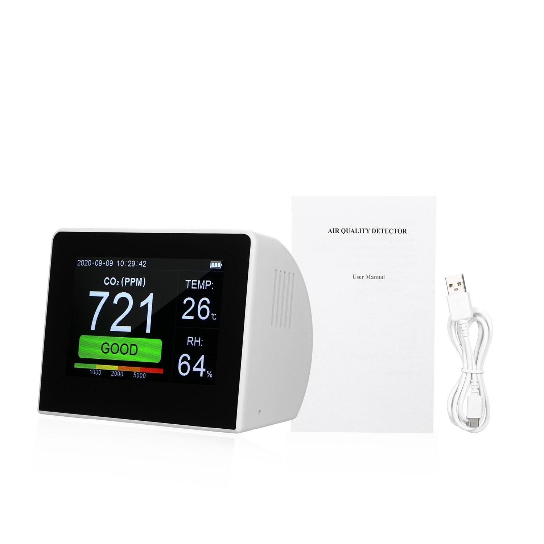 tomtop.com - [EU Warehouse] 62% OFF Desktop CO2/RH/Temp. 3-in-1 Multifunctional Air Quality Detector, $60.99 (Inclusive of VAT)