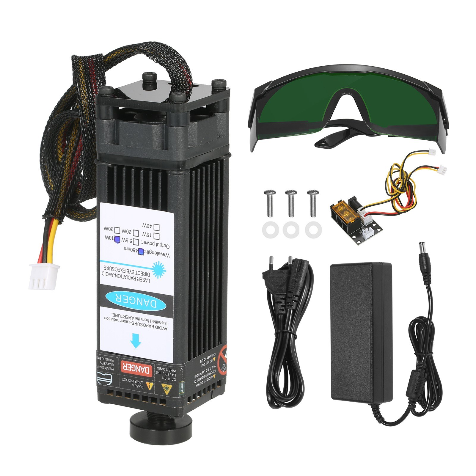 tomtop.com - 33% OFF 10W Laser Module Kit 450nm Blue Laser, Free Shipping $80.99