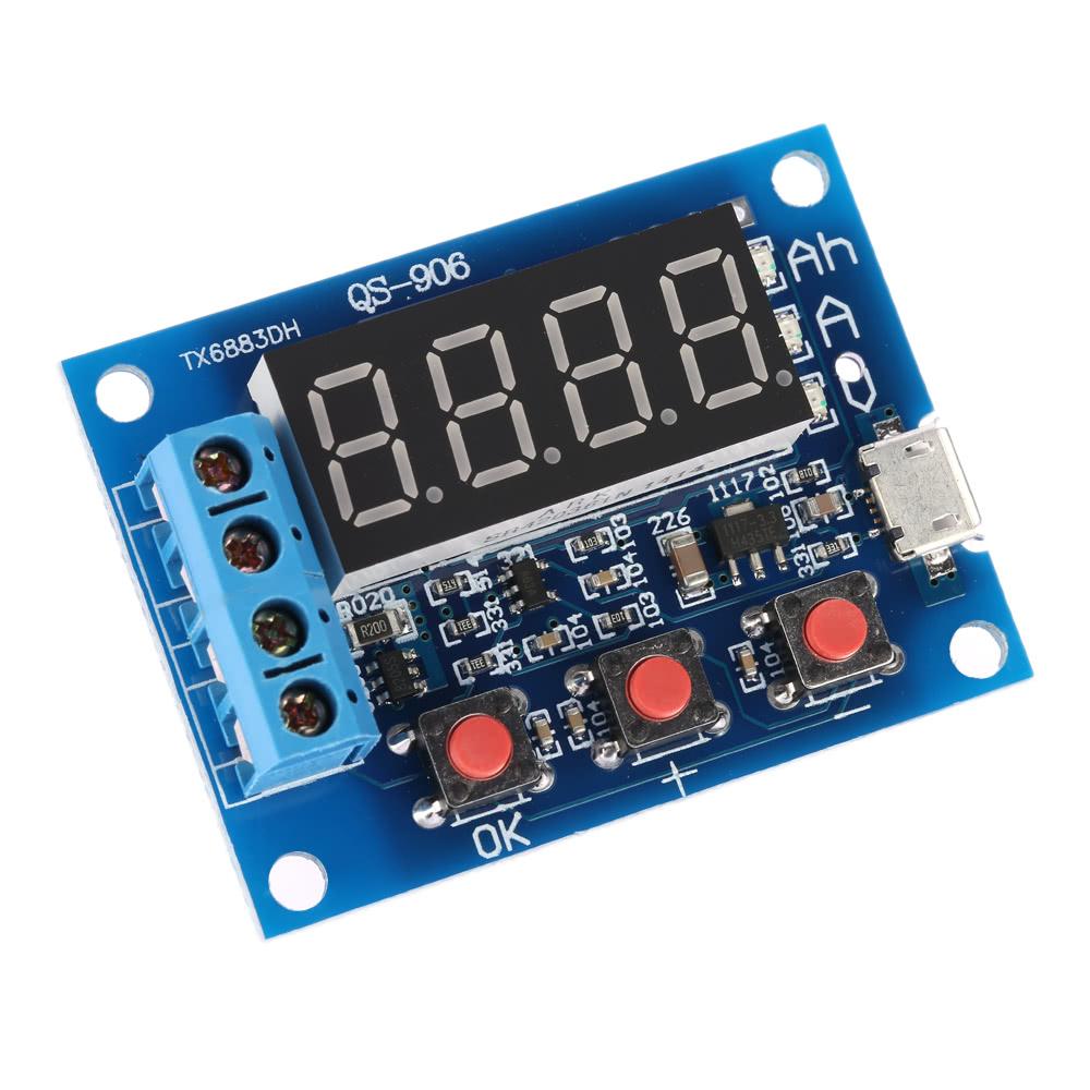 Battery Capacity Meter Discharge Tester For 18650 Li Ion Lithium 12v Lead Acid Indicator 1v 15v