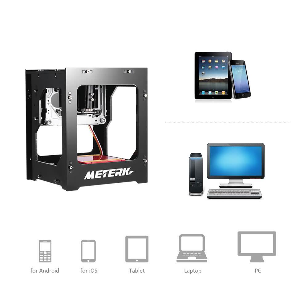 Meterk DK-BL 1500mW Mini DIY Laser Graviermaschine Wireless BT Print ...