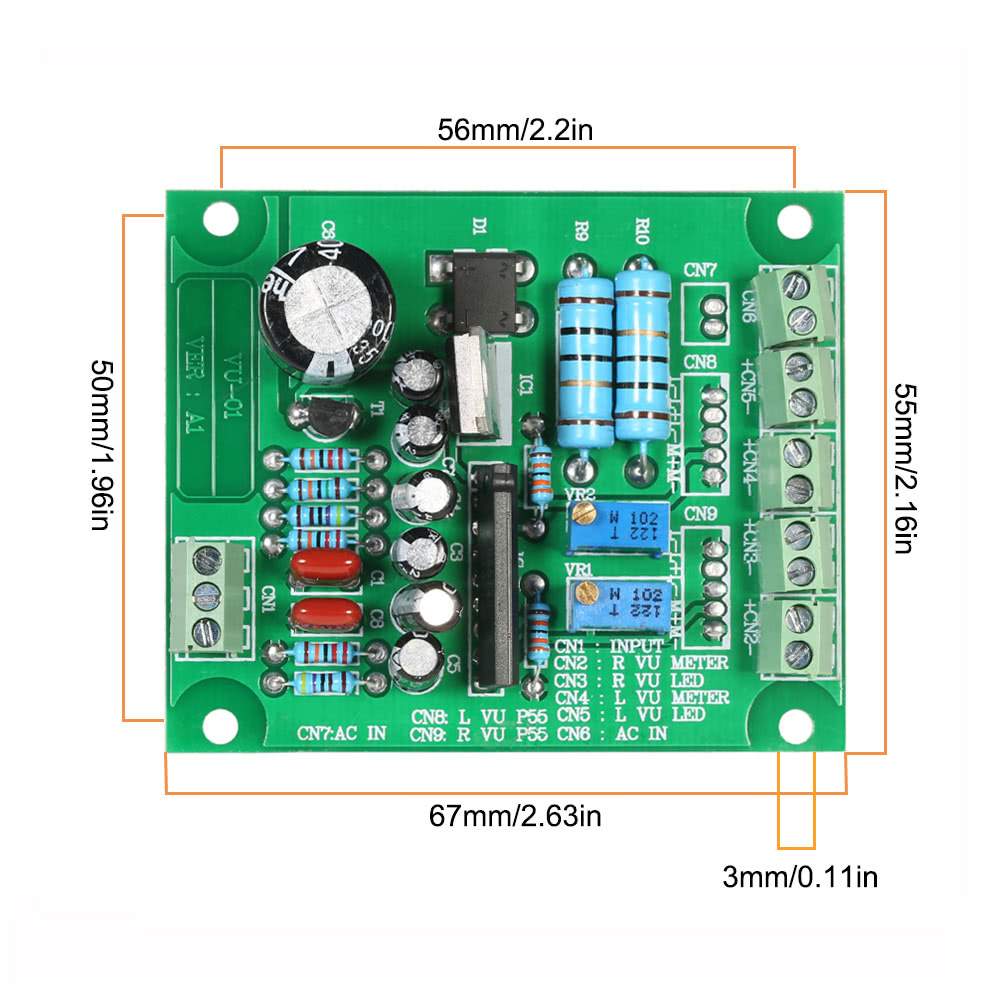 Ac 12v Stereo Vu Meter Driver Board Amplifier Db Audio Level Module 1 Sales Online Green Tomtop