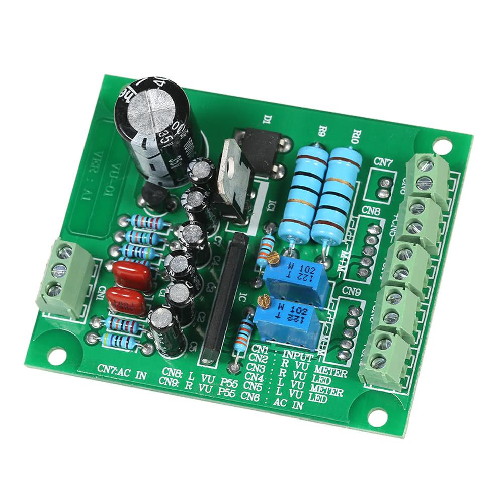 Ac 12v Stereo Vu Meter Driver Board Amplifier Db Audio Level Module 1