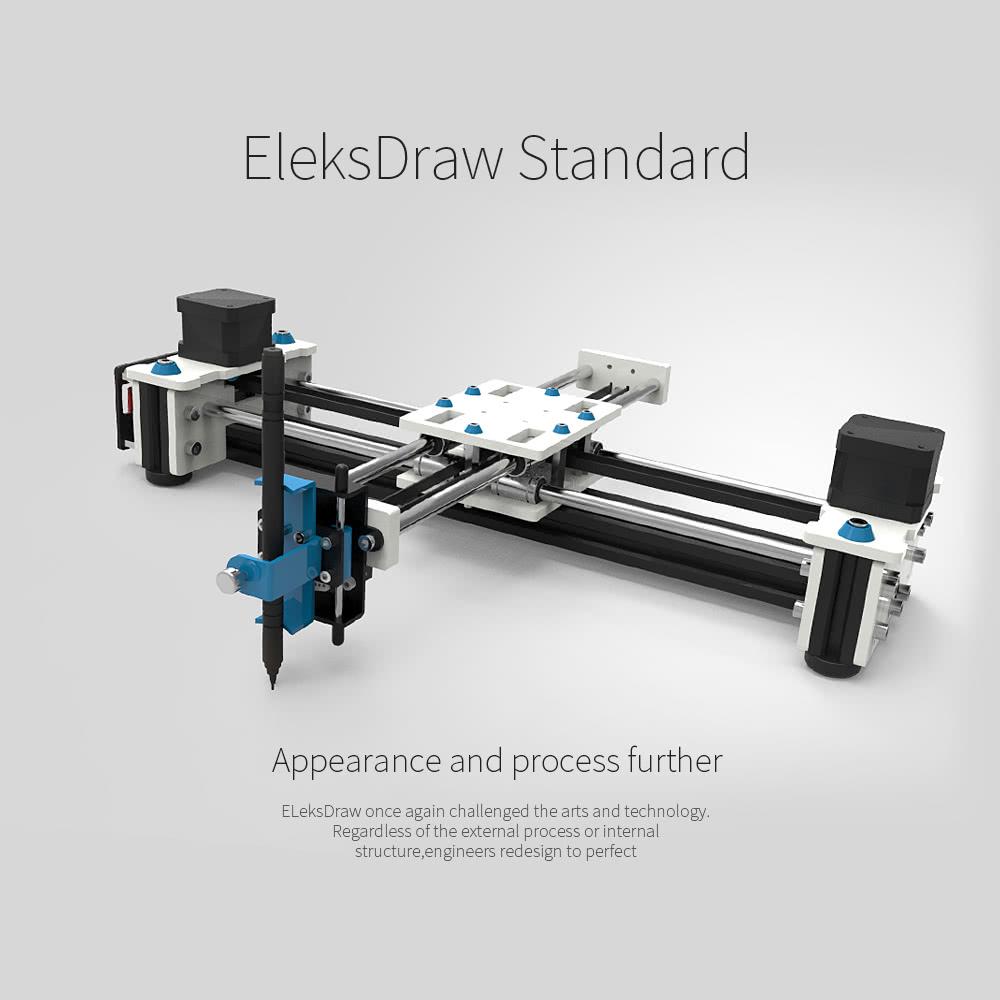 Eleksmaker Desktop Eleksdraw Usb Diy Xy Plotter Pen Drawing Robot Trailer Wiring Color Code Ireland 5 Aluminum Rod 11 Acrylic Board 2 Stepper Motor 1 Module Power Supply Screw Box Control 4 Shaft 3 Wire Cable