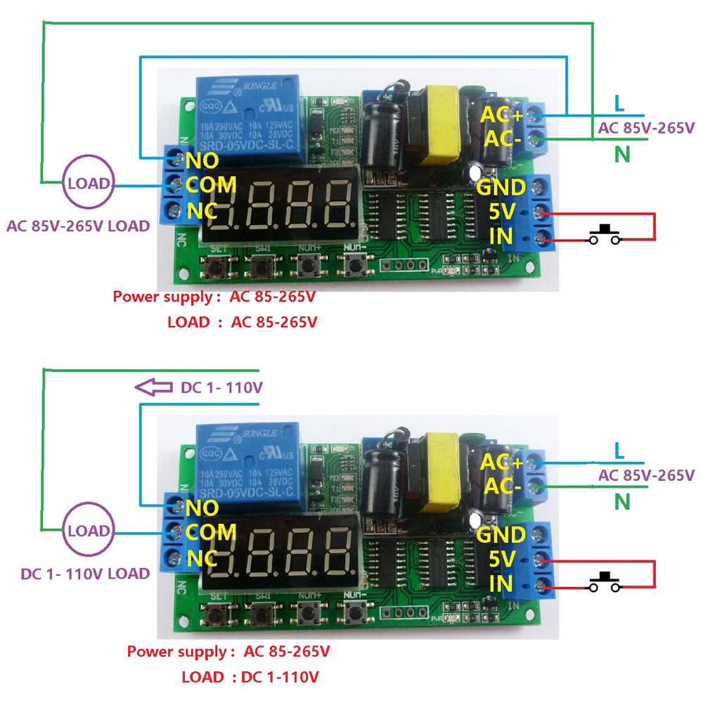Ac 110v 220v Digital Tube Multifunctional Led Time Delay Relay Plc Timer Circuit Smart Home Switch Sales Online Tomtop