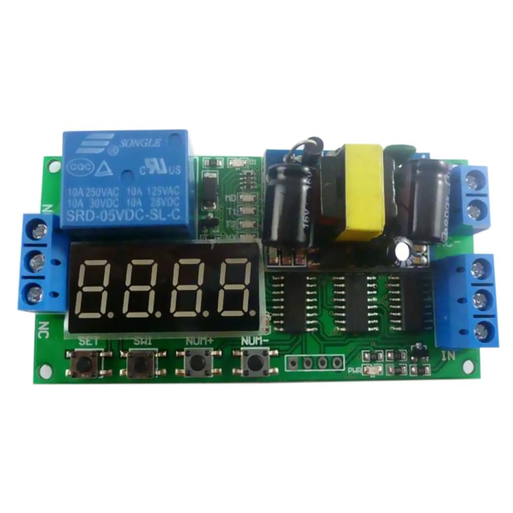 AC 110V 220V Digital Tube Multifunctional LED Time Delay Relay PLC Smart  Home Timer Switch