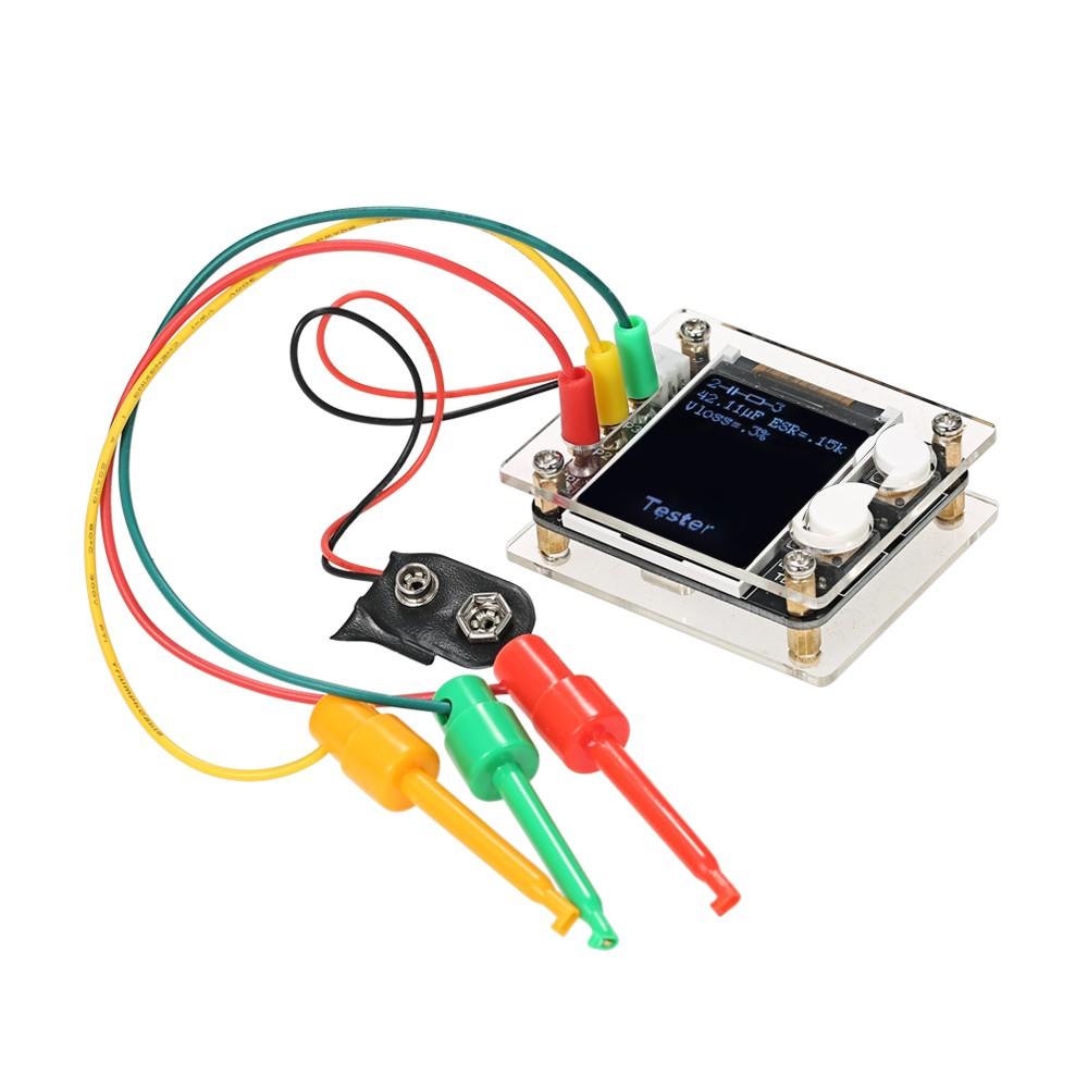 "Multifunctional 1.8"" TFT LCD GeekTeches MK328 Transistor Tester Diode Capacitance ESR Voltage Frequency Meter SMT Soldering Sales Online - Tomtop"
