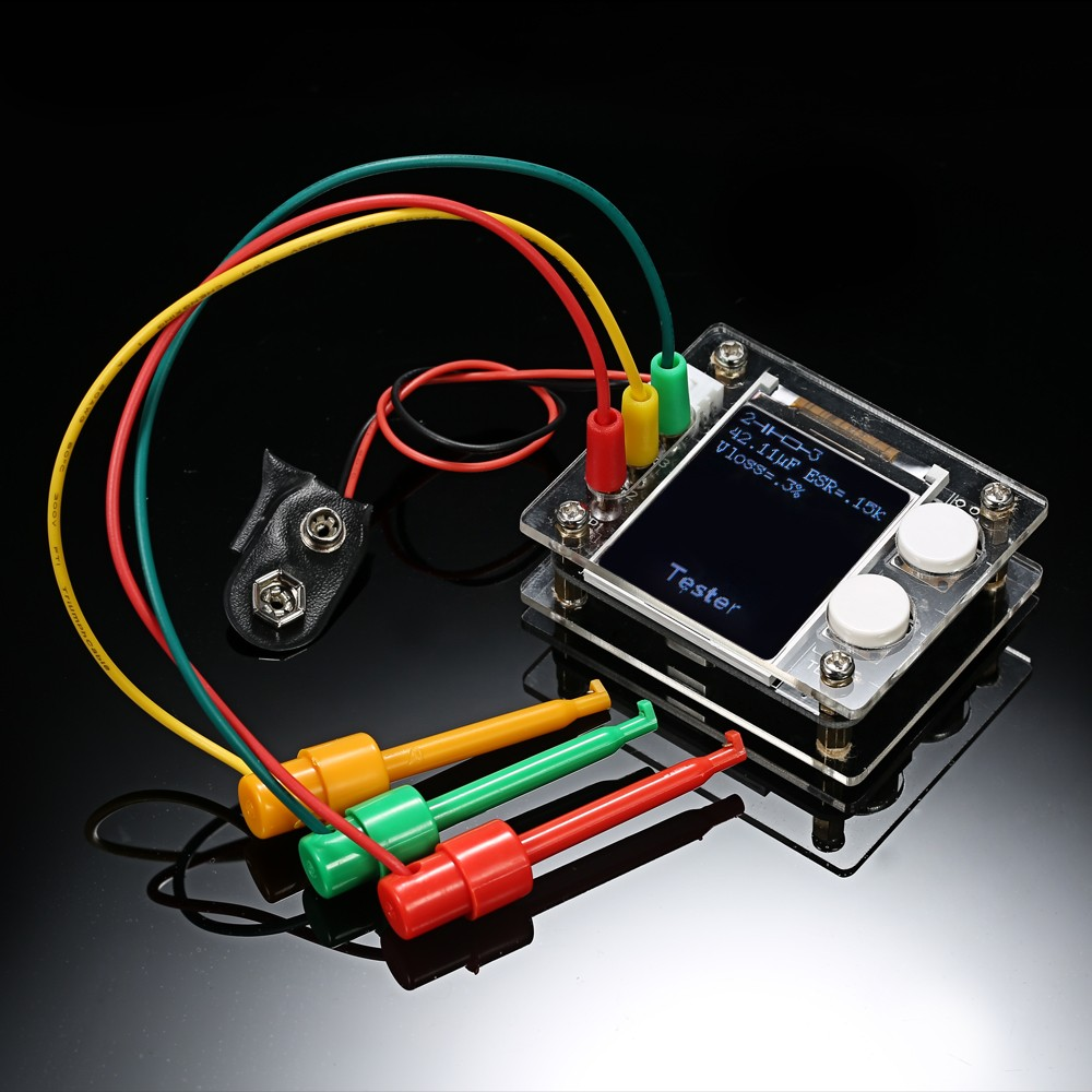 Multifunctional 18 Tft Lcd Geekteches Mk328 Transistor Tester Multi Functional Auto Electrical Circuit Diode Capacitance Esr Voltage Frequency Meter Smt Soldering