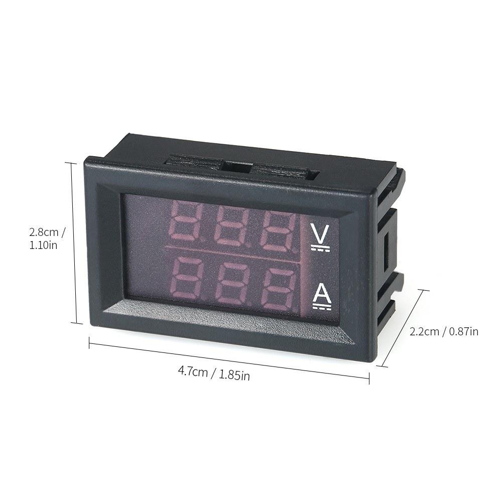 Led Dc0100v 10a Digital Voltmeter Ammeter Red Blue Dual Color Display Lcd Panel Amp Volt Meter 100a 100v Voltage And Ampere Gauge Sales Online Tomtop