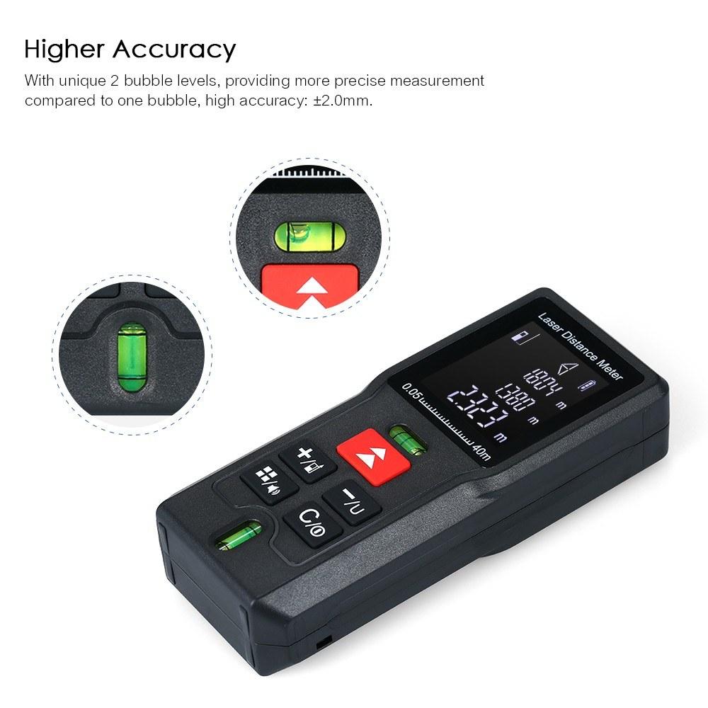 Handheld Digital Laser Distance Meter Portable Mini Range Finder MD100 100M  Sales Online #4 - Tomtop